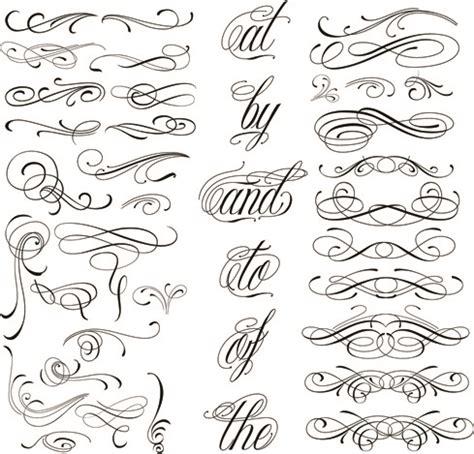 design elements cdr calligraphic design elements free vector download 25 337