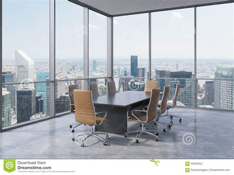 conference rooms in new york panoramic conference room in modern office in new york city brown chairs and a black table