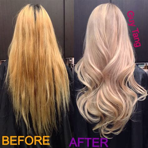 light ash hair color yellowish orange hair ash blonde on orange hair before and after dark brown hairs