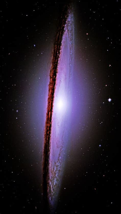 sombrero galaxy through telescope the majestic messier 104 m 104 sombrero galaxy hubble