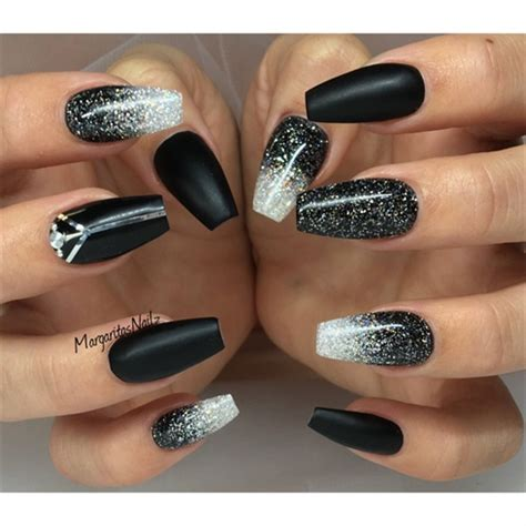 Accent Paint by Black Matte And Glitter Ombr 233 Nails Nail Art Gallery