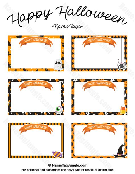 printable ghost name tags free printable quot happy halloween quot name tags the template