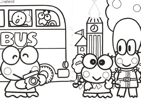 images of keroppi coloring pages