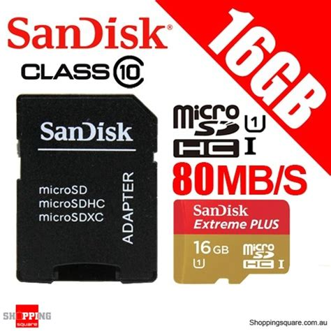 Sandisk Plus 16gb sandisk plus 16gb 80mb s micro sdhc uhs i memory