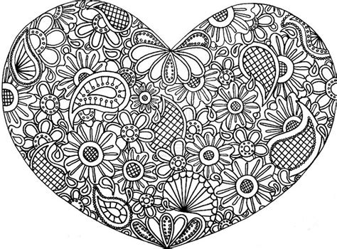 paisley heart coloring page hearts aand paisley zentangle coloring sheet print out