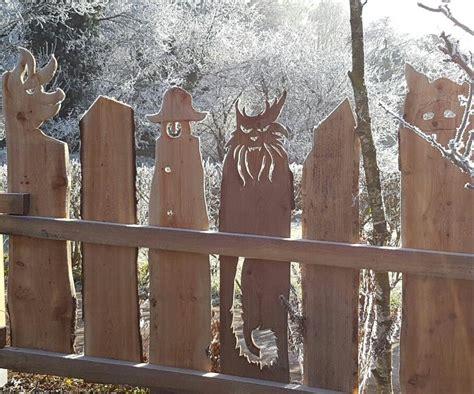 Weihnachtsdeko Gartenzaun by Holz Zaun Schwein Katze Holzideen Z 228 Une