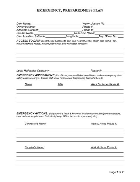 emergency preparedness plan template best photos of emergency preparedness policy sle