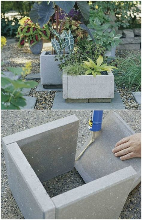 diy patio paver planter 25 diy garden pots that add decor to your outdoor living