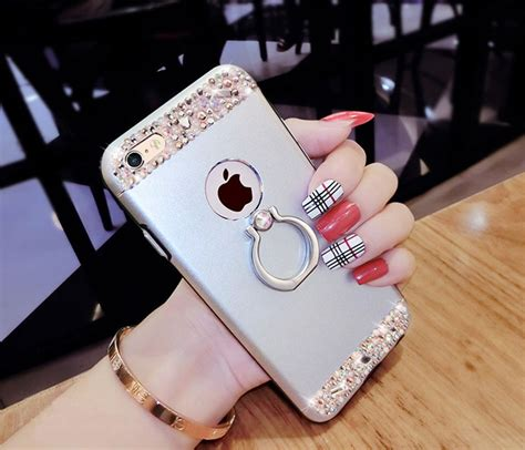 rose gold iphone      diamond metal protective cases covers ips cheap cell phone
