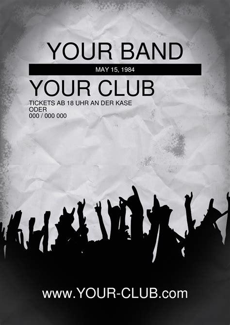 Flyer Und Handzettel Futuristic Abstract Band Flyer Von Chris Band Promo Template