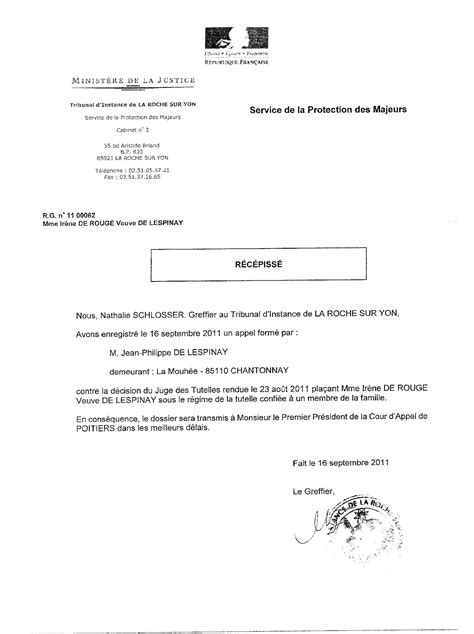 Exemple De Lettre Pour Un Juge modele de lettre de procuration pour mineur
