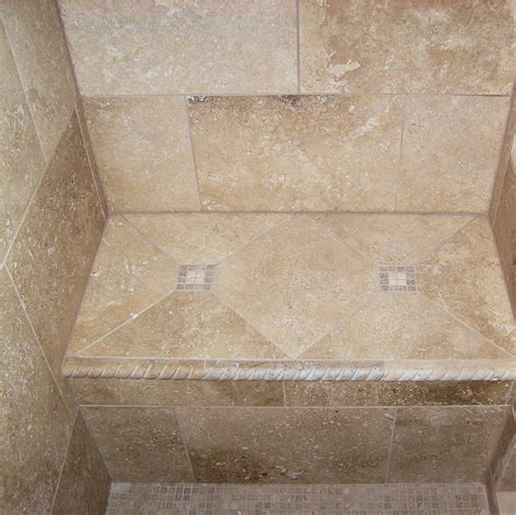 tiled shower with bench e r tile stone new tile and granite on the shower bench