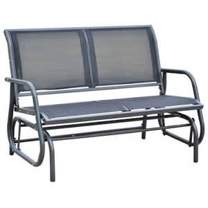Glider Patio Chair Loveseat Glider Outdoor Rocker Patio Chair Porch Garden Bench Furniture Ebay