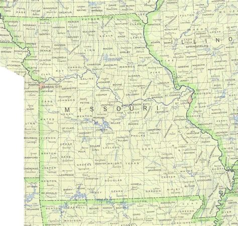 map missouri missouri base map