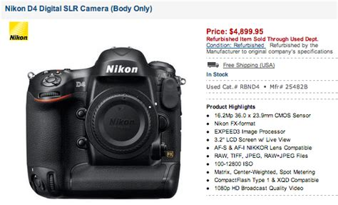 nikon dslr prices price drop on refurbished nikon dslr cameras nikon rumors