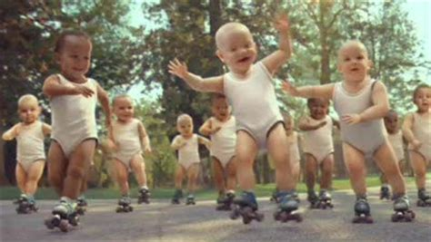 By Evian Known As Babies On Skates Improperly Since The Babies | rate the ad evian skating babies rate the ad adage