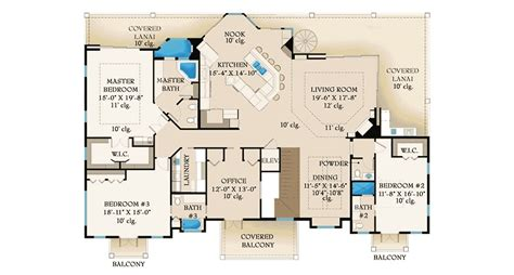 Lanai And Balcony Beauty 65601bs 2nd Floor Master House Plans With Lanai