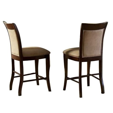 Dining Chairs Cherry Steve Silver Company Marseille Counter Height Dining Chair In Cherry Ms900cc