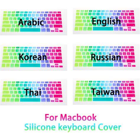 Keyboard Protector Macbook Pro Retina 15 Inch Rainbow aliexpress buy us eu uk rainbow silicon keyboard cover for apple macbook air 13 pro 15