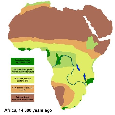 5 regions of africa map file africa climate 14000bp png