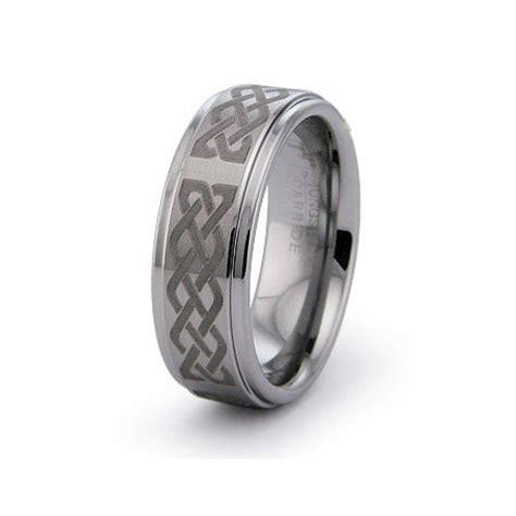 titanium celtic knot engraved promise ring