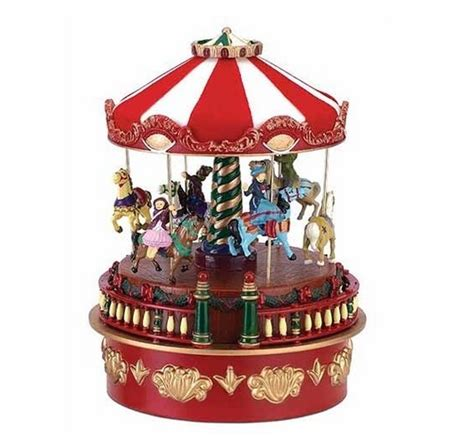 mr christmas musical carnival carousel miniature holiday