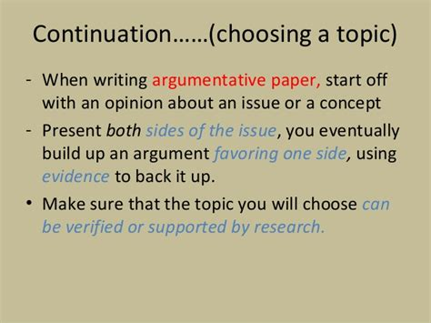 Choosing An Essay Topic by Continuation Choosing A Topic When