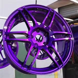 Custom Color Truck Wheels Transparent Purple Powder Coating Paint 1 Lb