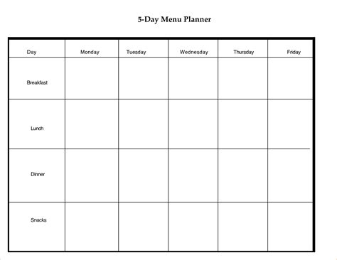 5 day weekly calendar template 6 5 day calendar template ganttchart template