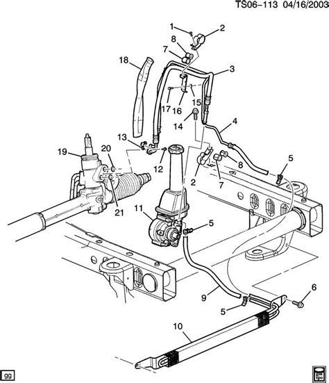 chevy power steering diagram diagram of power steering pressure line 2004 chevy