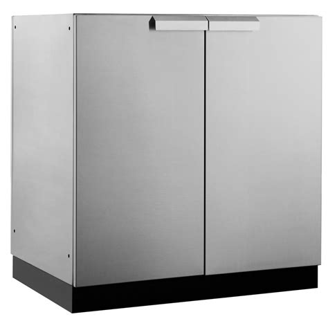 stainless steel kitchen cabinet doors newage products stainless steel classic 32 in 2 door base