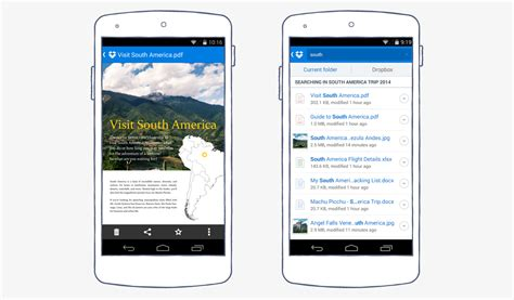 dropbox android dropbox for android introducing doc previews and smarter search dropbox