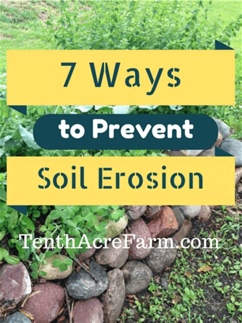 7 Ways To Avoid A At The End Of A Date by 7 Ways To Prevent Soil Erosion Tenth Acre Farm