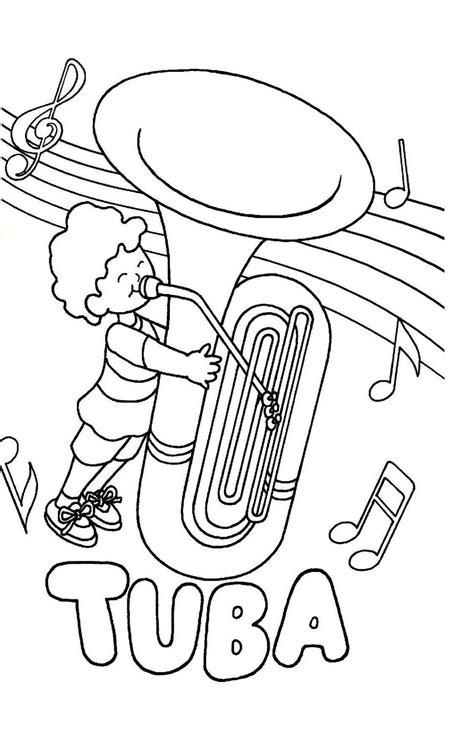 euphonium coloring page sousaphone coloring page coloring pages
