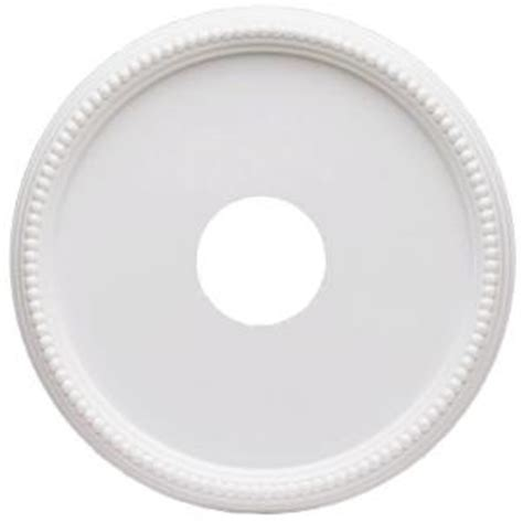 westinghouse ceiling medallion westinghouse 16 in beaded white finish ceiling medallion
