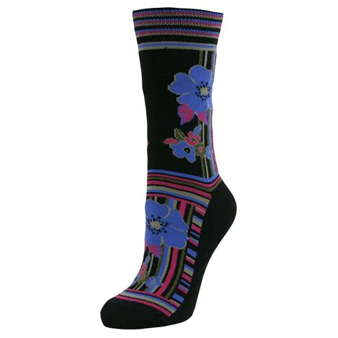 ladies patterned socks womens ladies girls flowers mid calf ankle crew short