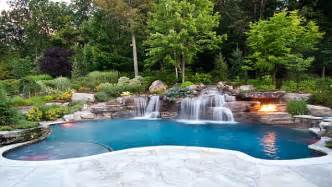 outdoor pool designs breathtaking pool waterfall design ideas