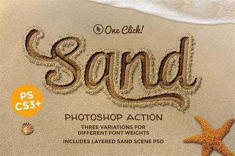 sand typography photoshop tutorial 30 best photoshop actions of 2018 design shack