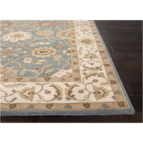 Wool Area Rugs 8x10 by At Home 8 X 10 Slate Blue And Beige Zuzanna
