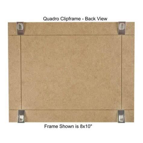 quadro clip frame 8 215 10 inch borderless frame classic