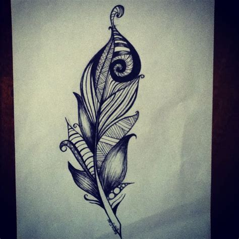 tattoo design etsy feather drawing by karen mast feather tattoo design www