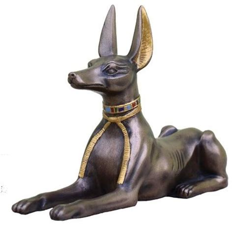 Wholesale Home Decor Accents 5 5 inch cold cast bronze egyptian anubis statue with