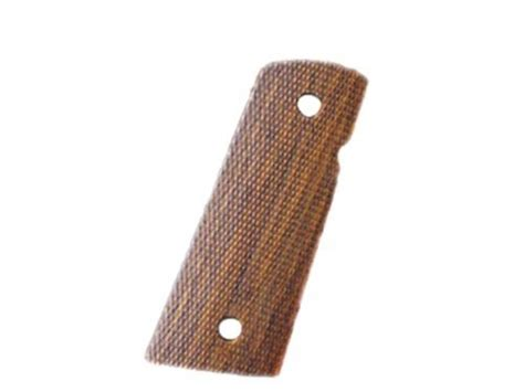 hogue grips 1911 officer extended mag well checkered cocobolo