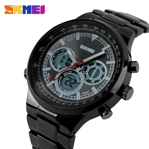 skmei casio sport led water resistant 50m ad1031 black jakartanotebook