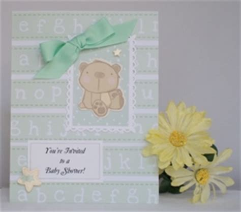 Exles Of Handmade Cards - baby shower invitations with exles of handmade