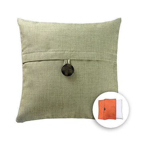 Lowes Pillow Covers shop allen roth 18 in w x 18 in l green square