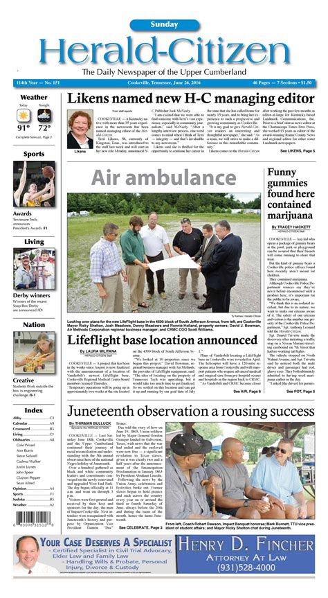 herald citizen 2016 06 26 sunday hc herald citizen