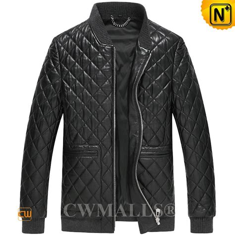 Mens Quilted Leather Jacket by Cwmalls 174 Quilted Leather Jacket For Cw806012
