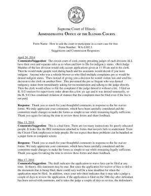 1 state 16th floor chicago il 60602 affidavit of indigency illinois editable fillable