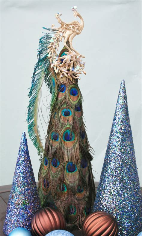 peacock feather christmas tree trees pinterest